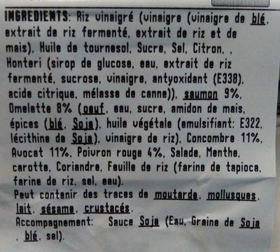 Verde Saumon - Ingredients