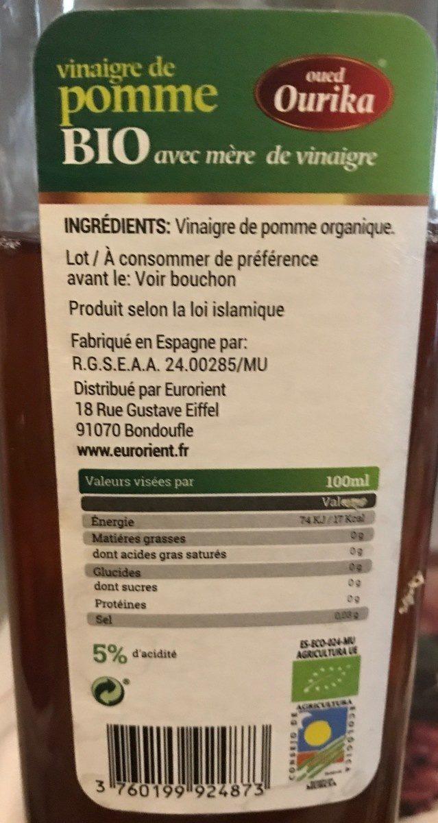Vinaigre de pomme bio - Product - fr