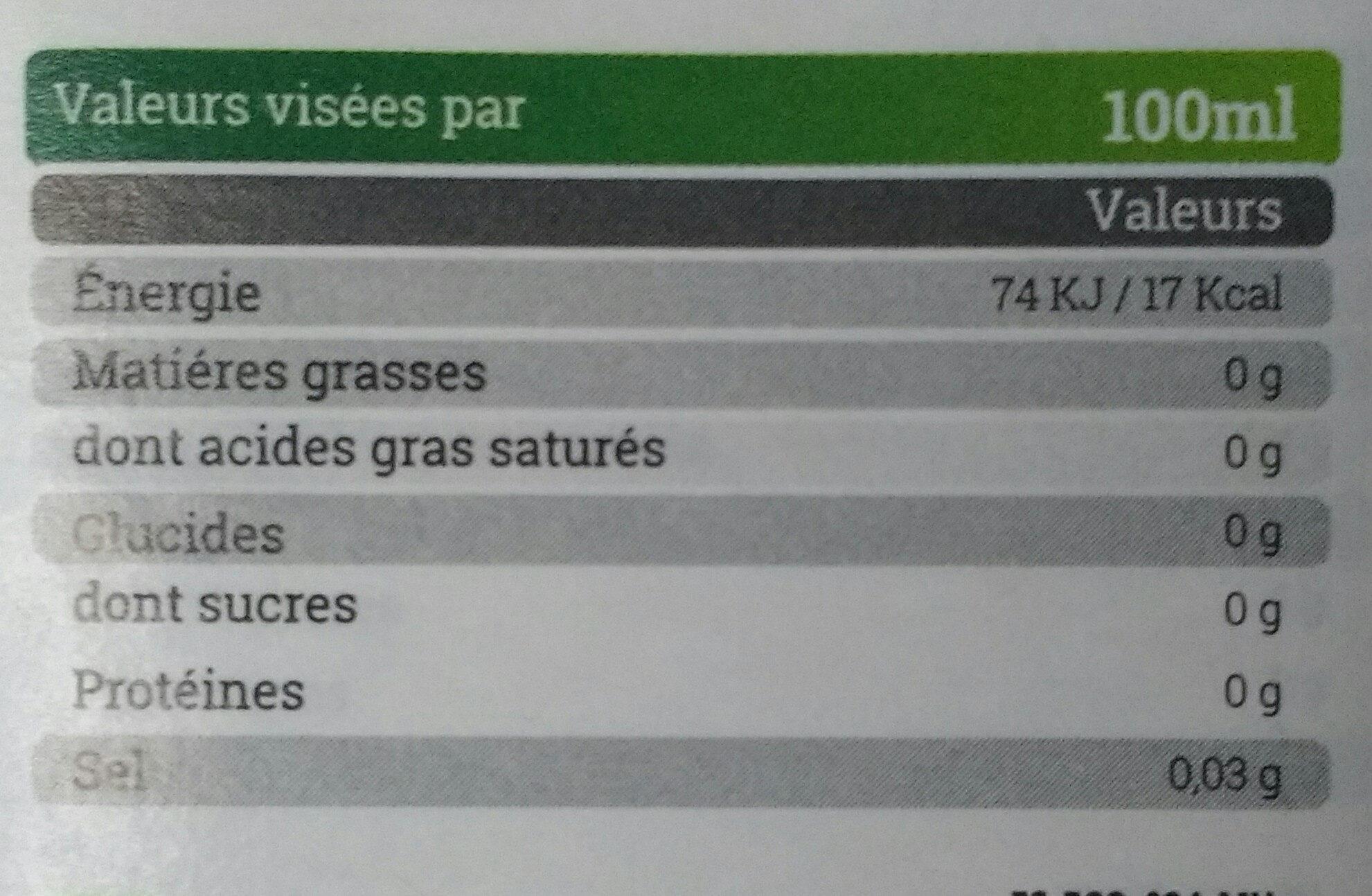 Vinaigre de pomme bio - Voedingswaarden - fr