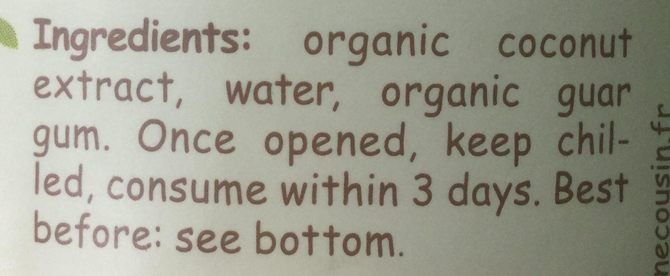 Crème de coco - Ingredients - en