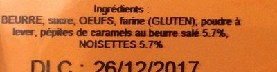 Cookies caramel noisettes - Ingrediënten - fr