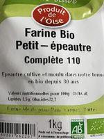 Farine Petit Épeautre - Ingrediënten - fr