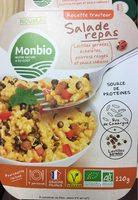 Salade Repas - Lentilles Germées, Échalotes, Poivrons Rouges et Sauce Indienne - Produit