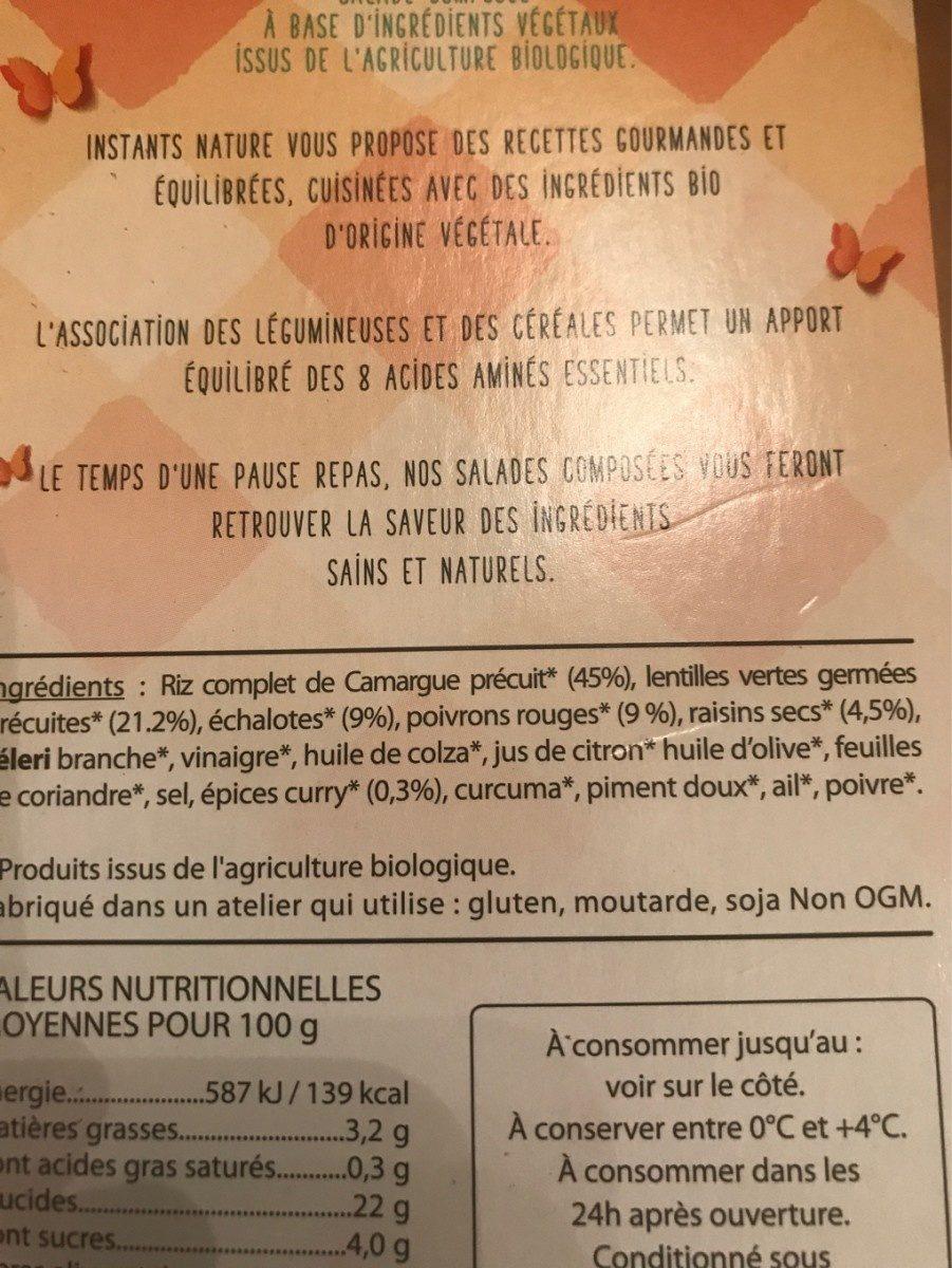 Ma salade bio - Ingredients - fr