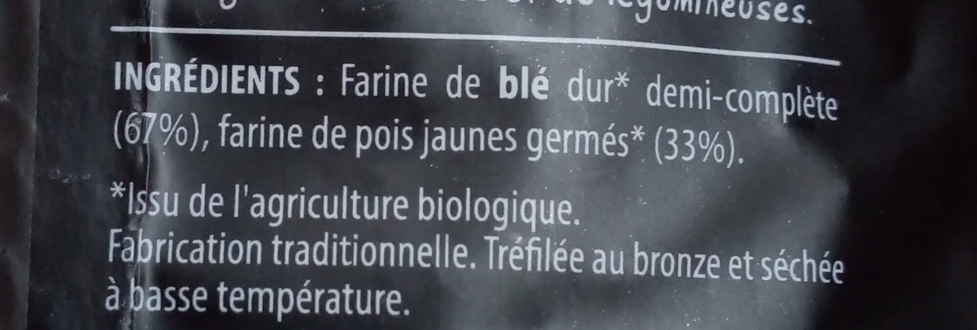 Pastagerm' aux pois jaunes germés - Ingrédients - fr