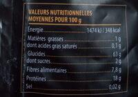Pastagerm' aux pois jaunes germés - Informations nutritionnelles - fr