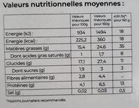 Instants Nature Quinoa et cranberries - Informations nutritionnelles - fr