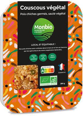Couscous Végétal, pois chiches germés, sauté végétal - Informations nutritionnelles - fr