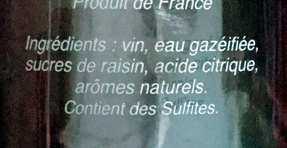 So Bacco Gingembre - Ingrediënten - fr