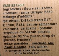 Sirop saveur Angélique - Ingrediënten - fr