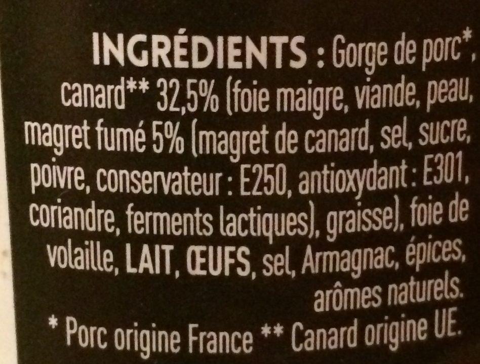 Terrine de canard au magret fumé - Ingrediënten - fr