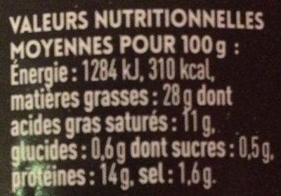 Terrine de canard au magret fumé - Voedingswaarden - fr