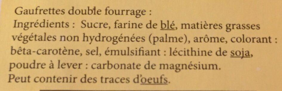 Gaufrettes amusantes parfum vanille - Ingrediënten - fr