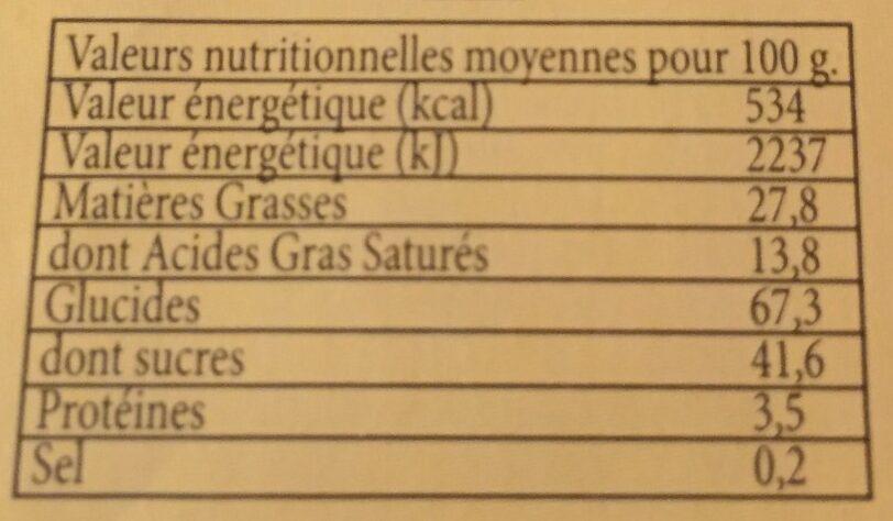 Gaufrettes amusantes parfum vanille - Voedingswaarden - fr