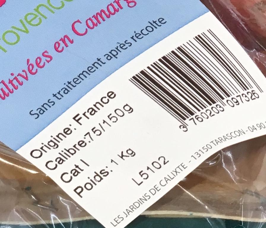 Patates douces de Provence - Ingrédients