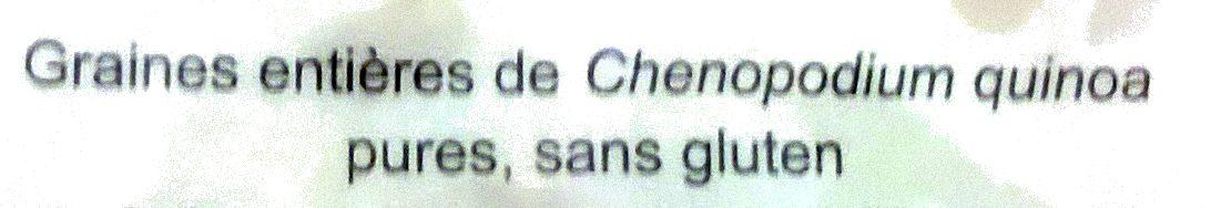 Quinoa d'Anjou le blond - Ingrédients - fr