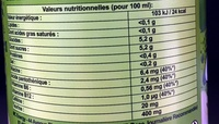 Crazy Tiger - Nutrition facts - fr