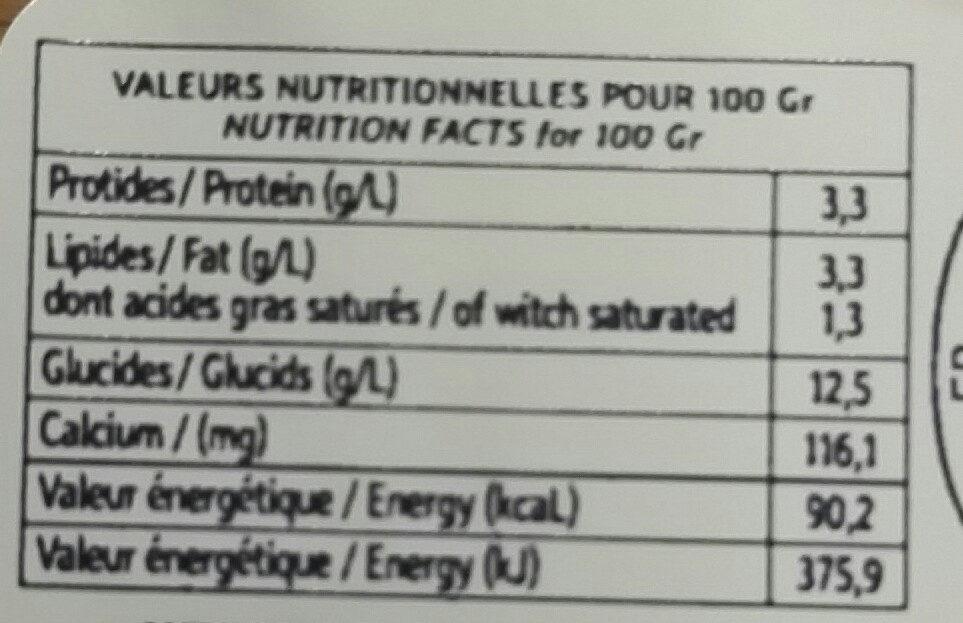 Yaourt artisanal Myrtille - Informations nutritionnelles - fr