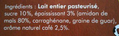 Crème dessert café - Ingredients