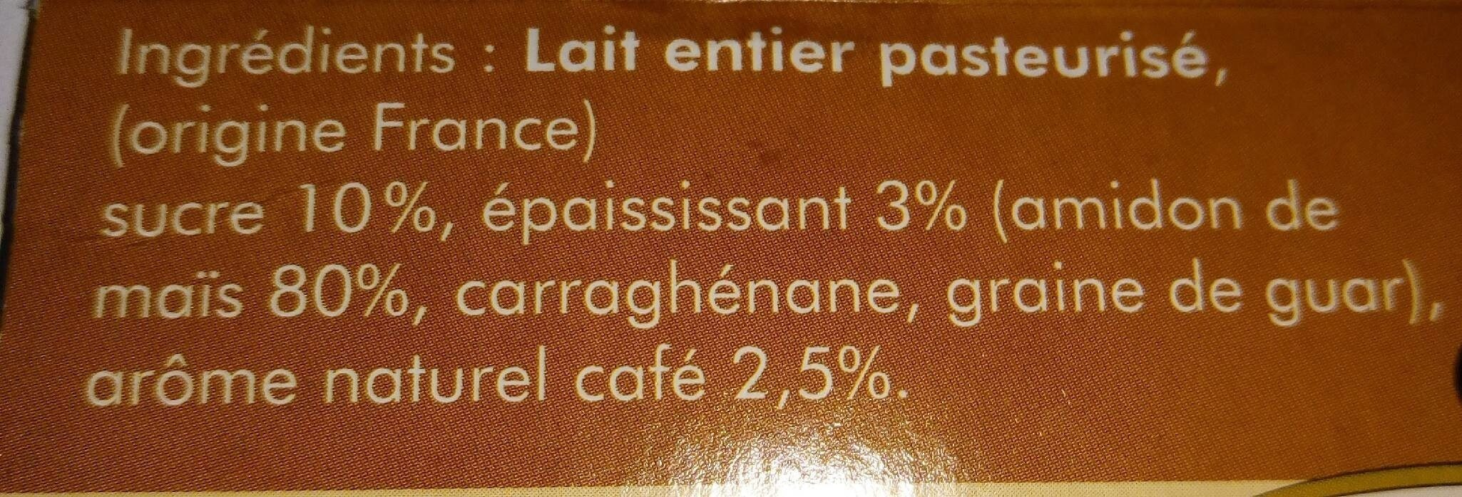 Crème dessert café - Nutrition facts