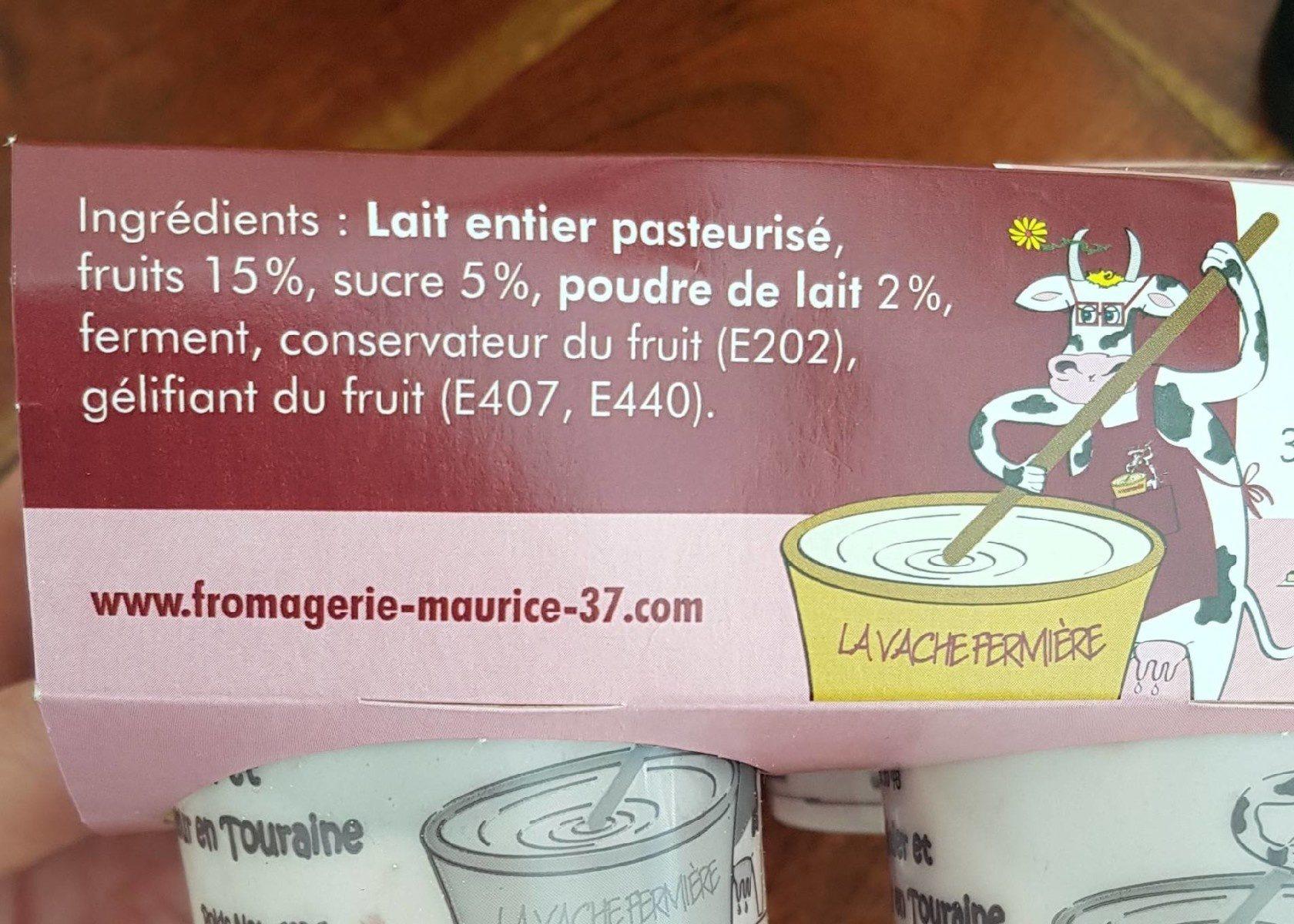 La vache laitière - Ingrédients