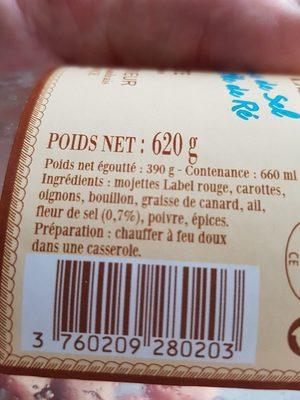 Mojettes cuisinees a la fleur de sel - Ingredients - fr