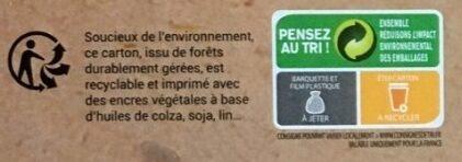 Pizza pâte fine au feu de bois Margarita - Instruction de recyclage et/ou informations d'emballage - fr