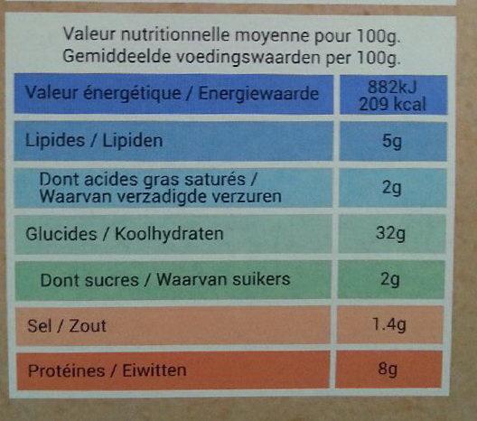 Pizza Pâte Fine Au Feu De Bois 4 Saisons - Informations nutritionnelles - fr