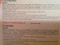 Pizza Mozzarella - Ingrédients - fr