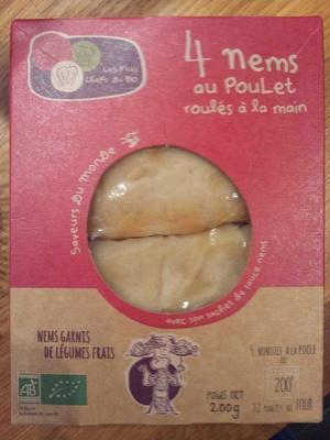 4 nems au poulet roulés à la main - Produit - fr
