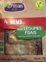 Nems Vegetarien X4 - Produit - fr