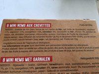 MINI NEMS AU CREVETTES X8 - Ingrédients - fr