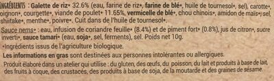 Mini nems poulet - Ingrédients - fr