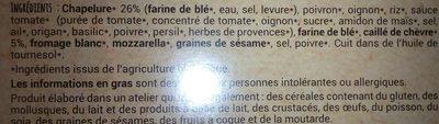 Croustillants au caillé de chèvre - Ingredientes