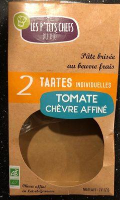 2 tartes individuelles Tomate chèvre affiné - Produit - fr