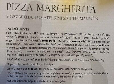 Pizza Margherita - Ingrédients - fr
