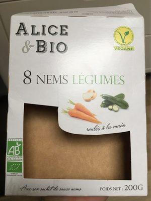 8 Nems aux Légumes, Bio - Product - fr