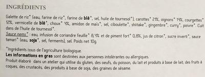 8 Nems aux Légumes, Bio - Ingredients - fr