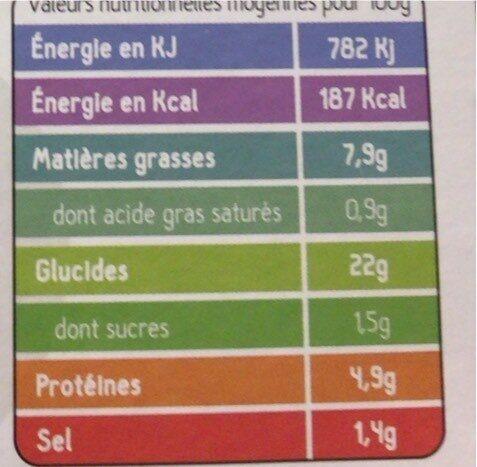 8 Nems aux Légumes, Bio - Nutrition facts - fr