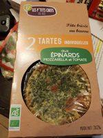 Tartes individuelles  aux épinards Mozzarella et  Tomate - Produit - fr