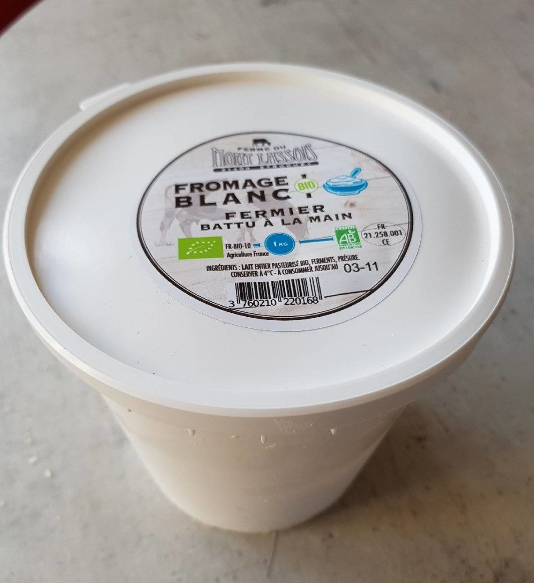 Fromage blanc bio - Produit