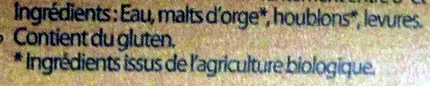 L'ambrée du hameau - Ingrediënten - fr