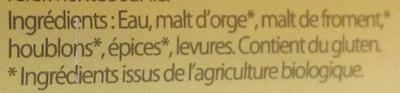 La Caenette - Ingrediënten - fr