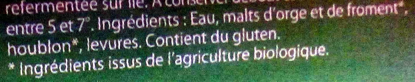 Conte & Fleurette - Ingrediënten - fr