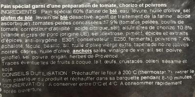 Piperade au chorizo - Ingredients