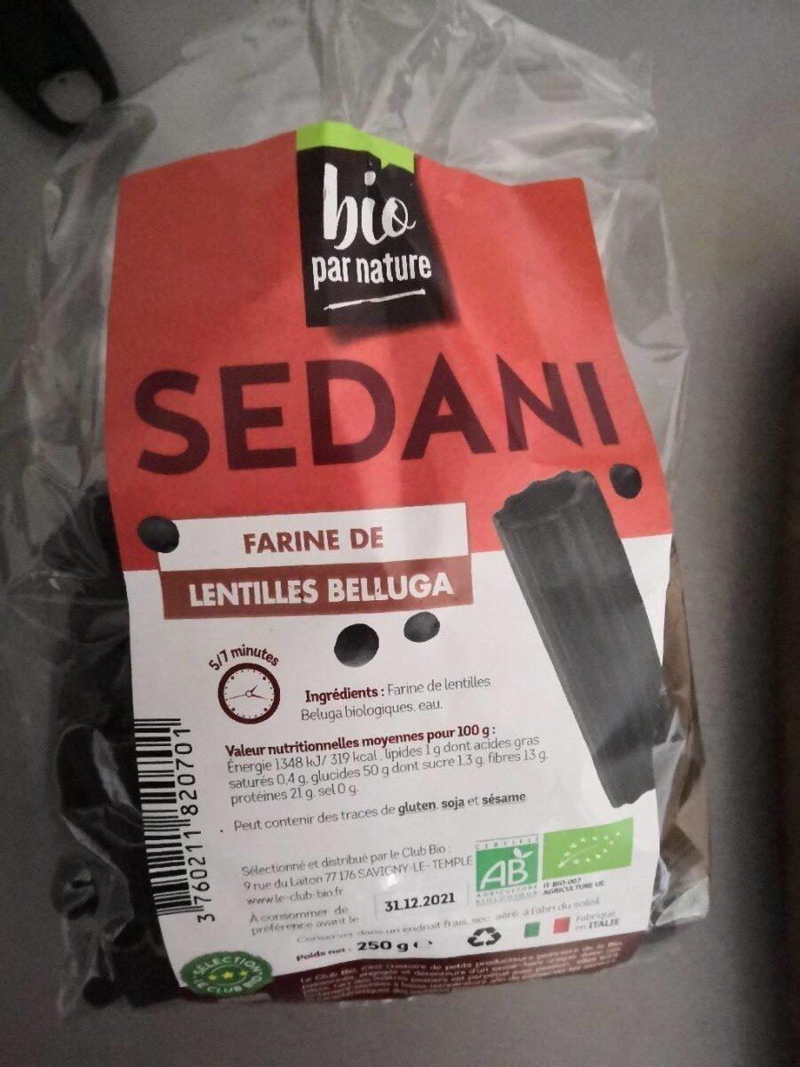 Pâtes à la farine de lentilles Belluga - Produit