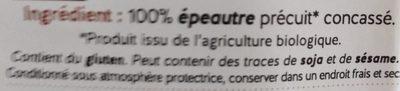 Boulgour d'épeautre - Ingredients