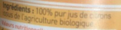 Pur jus de citrons de Sicile - Ingredienti - fr