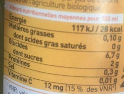 Pur jus de citrons de Sicile - Valori nutrizionali - fr