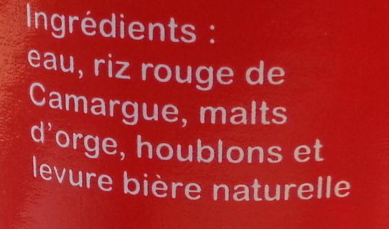 Bi re sauvage au riz rouge red rice 25 cl - Quantite de riz par personne ...